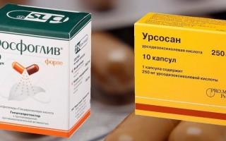 Что лучше – Фосфоглив или Урсосан: при каких заболеваниях печени есть показания к применению