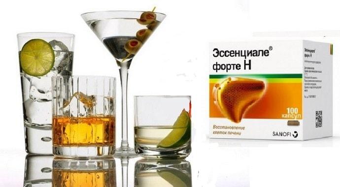 Эссенциале Форте и алкоголь — Совместимость и инструкция по применению, отзывы врачей