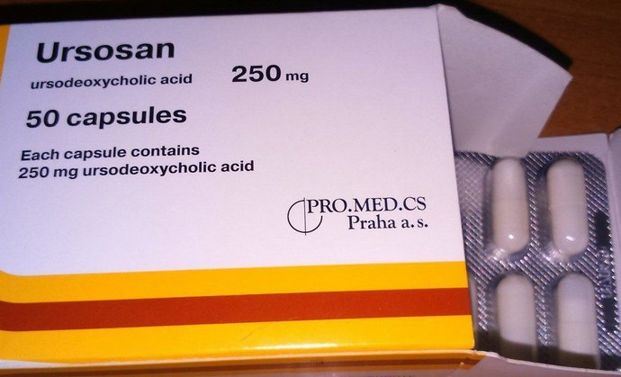 Основное действующее вещество Урсосана это урсодезоксихолевая кислота.