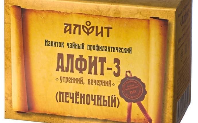 Выпускается лечебный напиток и в линейке продукции Алфит.