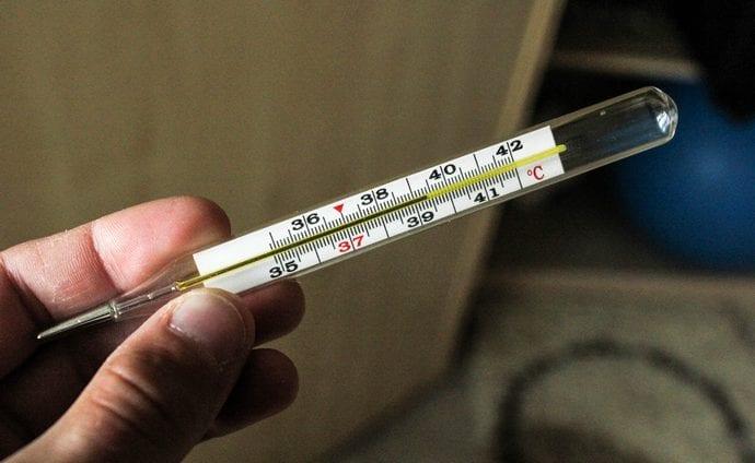 на последних стадиях цирроза высокая температура не редкость.