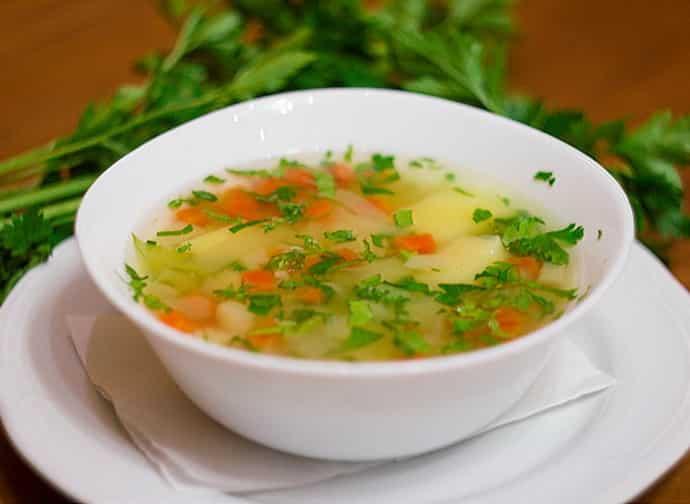 приготовьте овощной суп