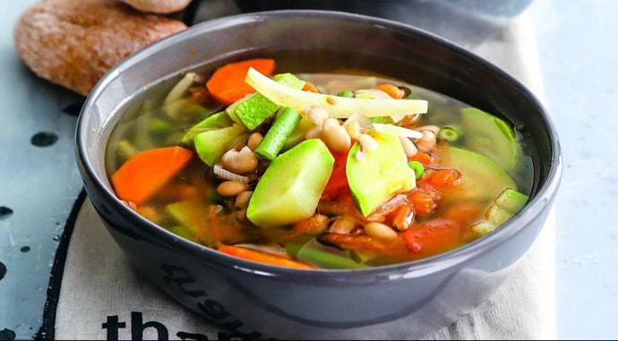 овощной суп при патологии