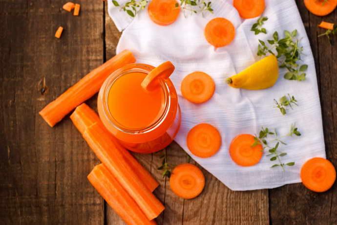 Лечебные действия морковного сока