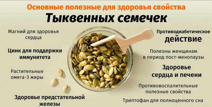 тыквенные семечки для печени